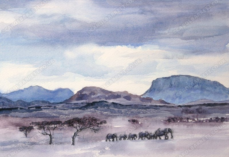 """<span style=""""float:left"""">Elephant memories</span><span style=""""float:right""""><a href=""""http://www.carolbarrett.co.uk/paintings/elephant-memories/?from=/elephants-for-sale/"""">More info »</a></span>"""