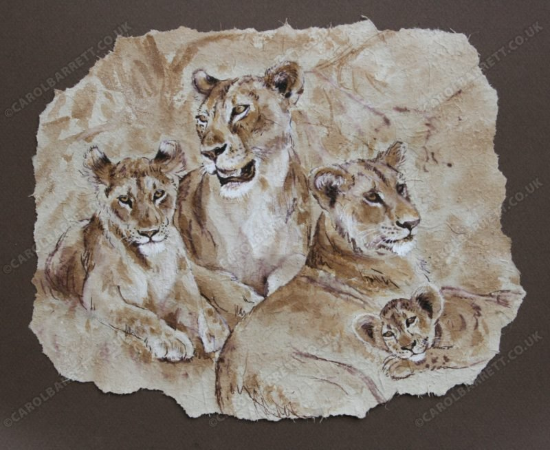 "<span style=""float:left"">Simba Interlude</span> <span style=""float:right""><a href=""http://www.carolbarrett.co.uk/paintings/simba-interlude/?from=/on-specialty-paper-sold/"">More info »</a></span>"