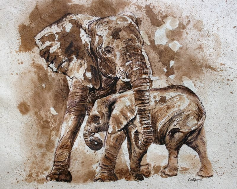 "<span style=""float:left"">Solace Giver</span> <span style=""float:right""><a href=""http://www.carolbarrett.co.uk/paintings/solace-giver/?from=/elephants-sold/"">More info »</a></span>"